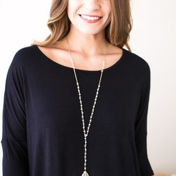 Simplicity Long Beaded Necklace