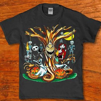 Awesome Jack Skellington unisex t-shirt for Halloween