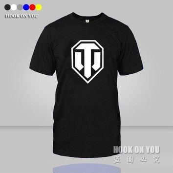 World of tanks t shirts World War ii Tank World Of Tanks T Shirt Men Plus Size Short-sleeve T-Shirt Top Tees camiseta