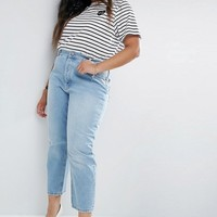 ASOS CURVE FLORENCE Authentic Straight Leg Jeans in Cambridge Light Mid Wash at asos.com