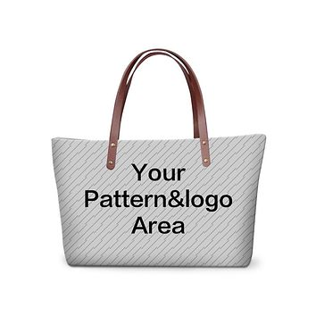 Cute custom pattern Girl Handbag Brand Women Large Tote Bag Designer Hand bags fashion large shoulder bags
