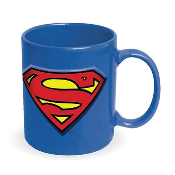 Superman Embossed Logo 20 Ounce Mug