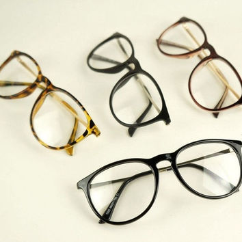 Retro Fashion 2015 Glasses Women Eyewear Vintage Round Clear Lens Frame Metal Legs High Quality Unisex Plain Glasses Eyeglasses = 1946654596
