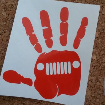 Jeep Hand Decal | Jeep Decal | Car Decal | Jeep | Decal | Laptop Decal | Monogram | Preppy Decal | Hand Decal | Jeep Wave | Jeep Wave Decal
