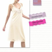 Classic Full Slip with Adjustable Straps Full Tailored Slip (42, Beige) $15.00