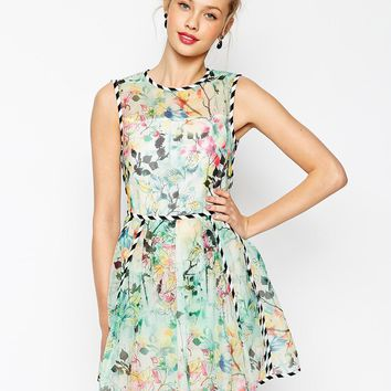 ASOS Organza Prom With Contrast Piping