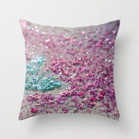 Tickle Me Pink Throw Pillow by jlbrady213 & KBY | Society6