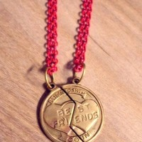 Vintage Friendship Coin Necklaces