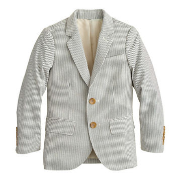 crewcuts Boys Ludlow Suit Jacket In Seersucker