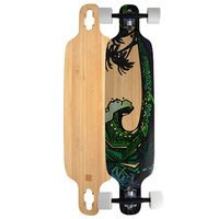 Bamboo - Green Giant Longboard Twin Tip Drop Through 40 inch - Complete