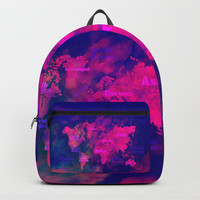 world map 114 3D #worldmap #map Backpacks by jbjart