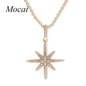 Mocai Silver Color Europe Star Necklaces & Pendant Vintage Big David Stars Punk Chain Choker Necklace For Women Jewelry ZK40