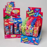 snake spray and 7 piece sweet & sour candy Case of 96