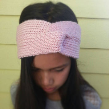 Hand Knit Twisted Headband/Turban Fits Adult and Children 10+ Choose from a Variety of Colors