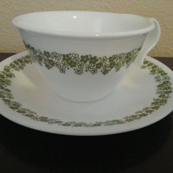 Crazy Daisy Cup and Saucer - Corelle by Corning