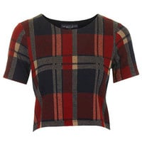 PETITE Blanket Check Tee - Red