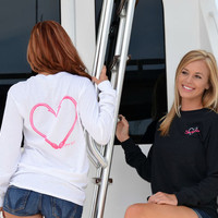 Fishing Heart Hook long sleeve sporty girl shirts
