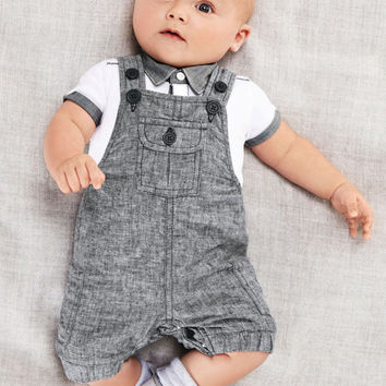 2017 new Arrival Baby boy clothing set Gentleman newborn clothes set for boys high quality cotton T-shirt + Overalls baby  suit