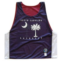 South Carolina Flag Lacrosse Pinnie