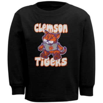Clemson Tigers Infant Stacker Long Sleeve T-Shirt - Black - http://www.shareasale.com/m-pr.cfm?merchantID=7124&userID=1042934&productID=528460305 / Clemson Tigers