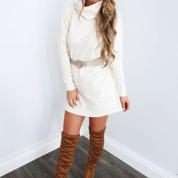 Simple As Can Be Dress: Ivory