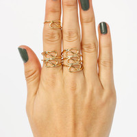 Curve-Appeal-Ring-Trio GOLD - GoJane.com
