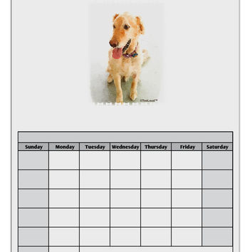 Golden Retriever Watercolor Blank Calendar Dry Erase Board