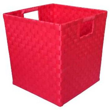 Decorative Basket Cr Polypropylene Red Pop Square : Target