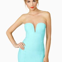 Nasty Gal Helix Dress - Mint