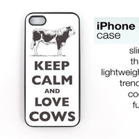 Keep Calm And Love Cows iPhone 5 case  Choose by keepcalmstore
