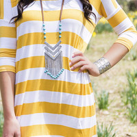 Blank Space Long Silver And Aqua Stone Chevron Tribal Fringe Necklace With Leather Chain