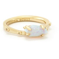 Kendra Scott: Julia Ring in White Kyocera Opal