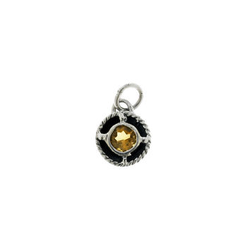 Kamon Sterling Silver And Citrine November Charm