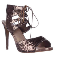 TS35 Rhumba Sparkle Dress Sandals, Bronze, 7 US
