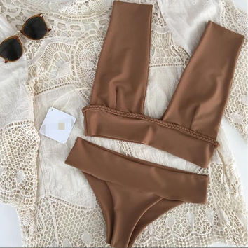 Sexy Bikini Swimwear Swimsuit Women Bikini Set Bandage Bathing Suit Maillot De Bain Femme Biquini Beach 2017 Swim Suit -03122