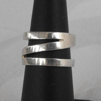 Wide Openwork Sterling Silver Band Ring Size 5 Newer Jewelry