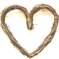 "Grapevine Heart- Extra Large 12"" Grapevine Heart, Outdoor Decor, DIY Ornament, Rustic Wedding Decor, Wreath Alternative"