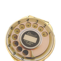 telephone dial compact mirror