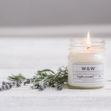 English Lavender - 9oz Pure Soy Wax Candle
