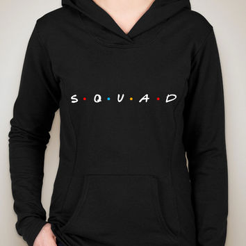 "Friends TV Show F.R.I.E.N.D.S Inspired ""Squad"" Unisex Adult Hoodie Sweatshirt"