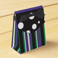 Purple & Green Favor Boxes