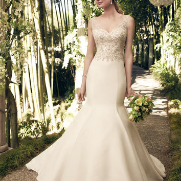 Casablanca Bridal 2175 Beaded Tank Chiffon Mermaid Wedding Dress