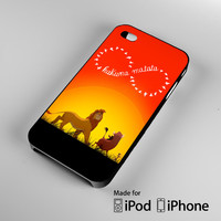 Disney, the lion king hakuna matata iPhone 4 4S 5 5S 5C 6, iPod Touch 4 5 Cases
