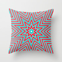 Christmas star Throw Pillow by Sylvia Cook Photography