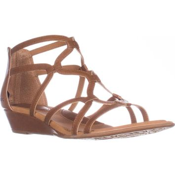 B.O.C. Born Concept Pawel Low Wedge Gladiator Sandals, Light Brown, 10 US / 42 EU
