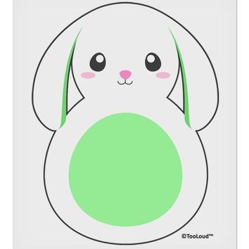 "Cute Bunny with Floppy Ears - Green 9 x 10.5"" Rectangular Static Wall Cling by TooLoud"