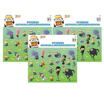 Despicable Me Sticker Sheets [3 Packs of 2 Sheets Ea]