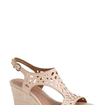 "Women's Clarks 'Palmdale Sands' Wedge Sandal, 3"" heel"