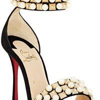 Christian Louboutin TUDOR BAL Jewel Pearl Studded Cuff Heels Sandals Shoes $1195