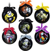 Tim Burton's The Nightmare Before Christmas Ornament Set -- 7-Pc. Set- 2011 Disney Item No. 6434046651953P